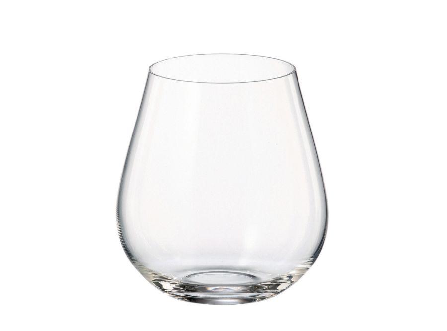 sklen. 380ml, 6ks, COLUMBA, víno, voda bez stopky