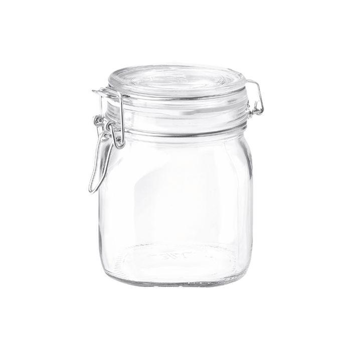 dóza 0,75l FIDO-Bormioli, čtvrec., patentní sklo