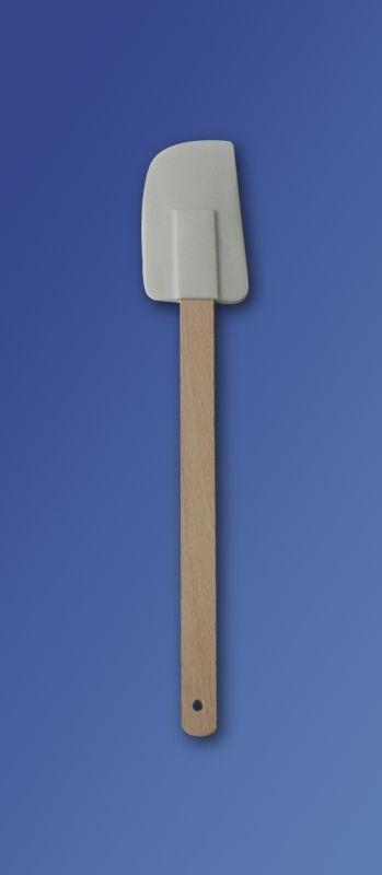 stěrka kuch. 27,5cm, 9x5cm, gum. bílá, dř.rukoj.