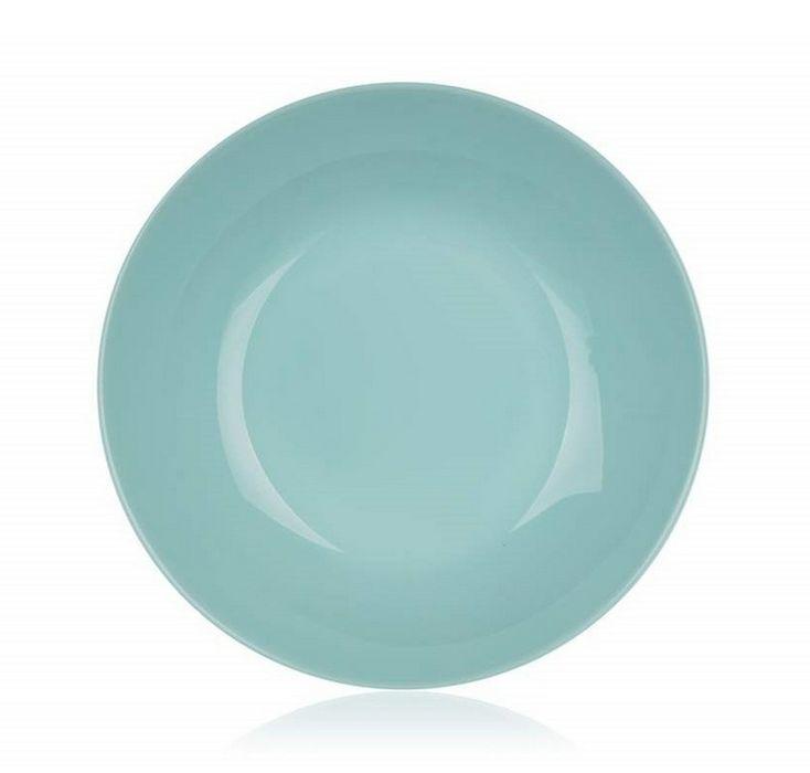 talíř d20cm hluboký, DIWALI, tyrkys, tvrz.sklo