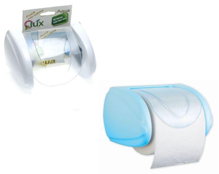 držák WC papíru s klapkou, celoplast