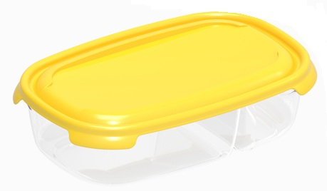 box  0,25l+0,5l PRIMO, 20,5x16,5x 6cm, dělený, pla