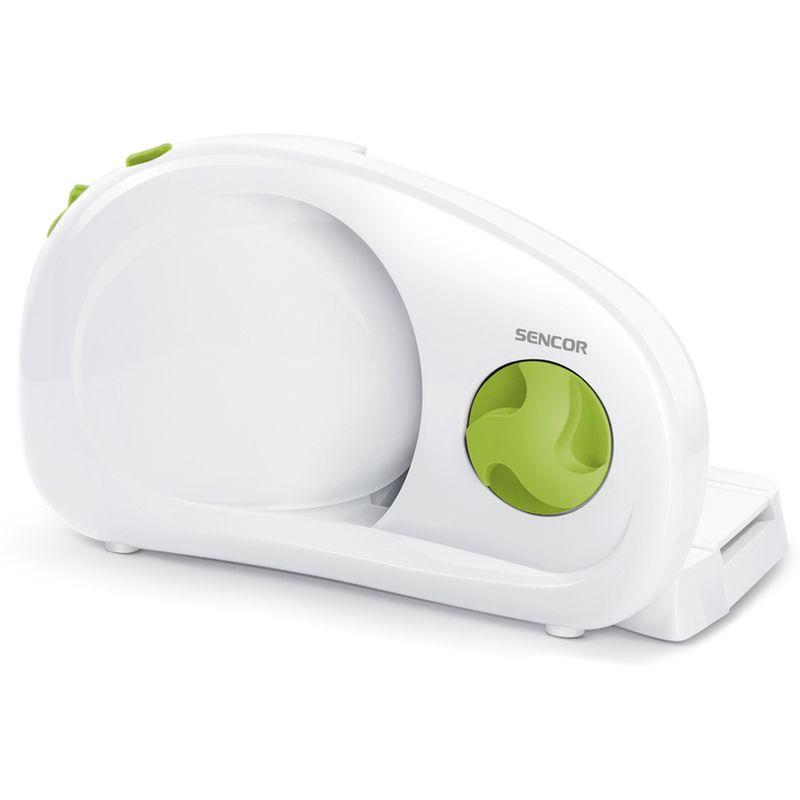 kráječ na chléb/potraviny elektr.bílý+zelený knofl