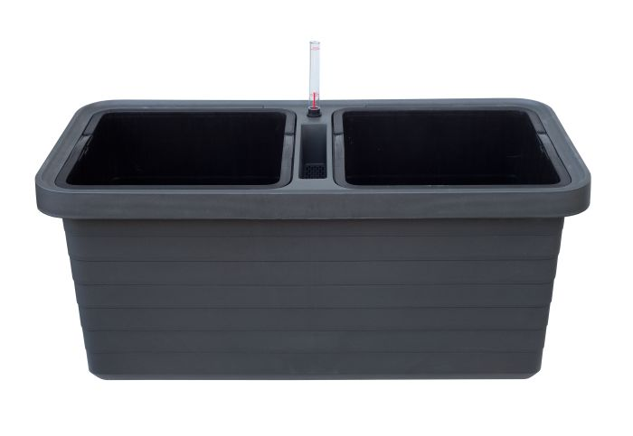 truhlík  DUO antracit 78x39x35cm BERBERIS samozavl