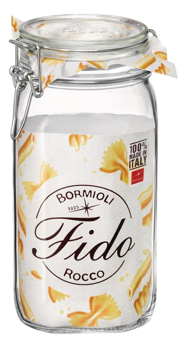 dóza 1,50l FIDO-Bormioli, 10,5x10,5x22cm, patentní