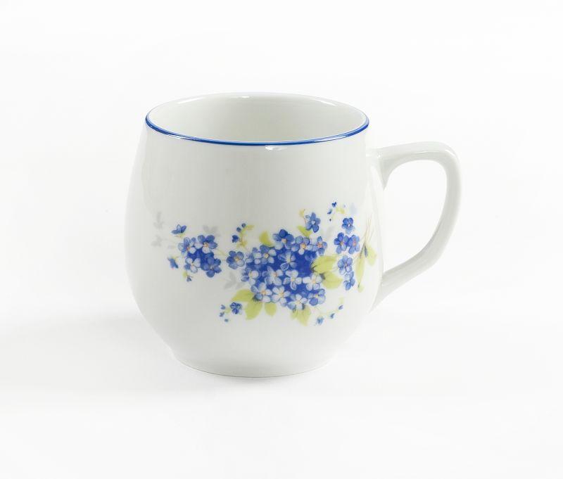 hrnek 300ml BAŇÁK-POMNĚNKY modré, čes.porcelán