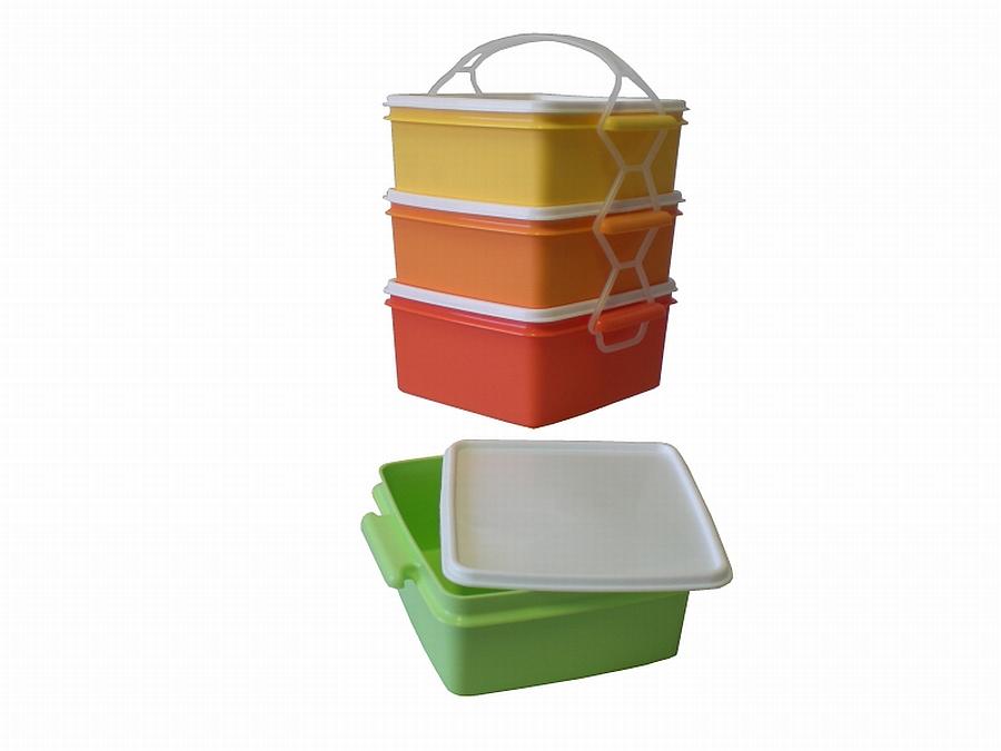 jídlonosič 3D (3x1,2l) ČTVERCOVÝ