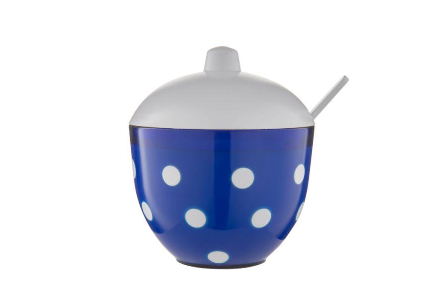 cukřenka d11,4x9,7x11,8cm, modrá MARUSYA, plast