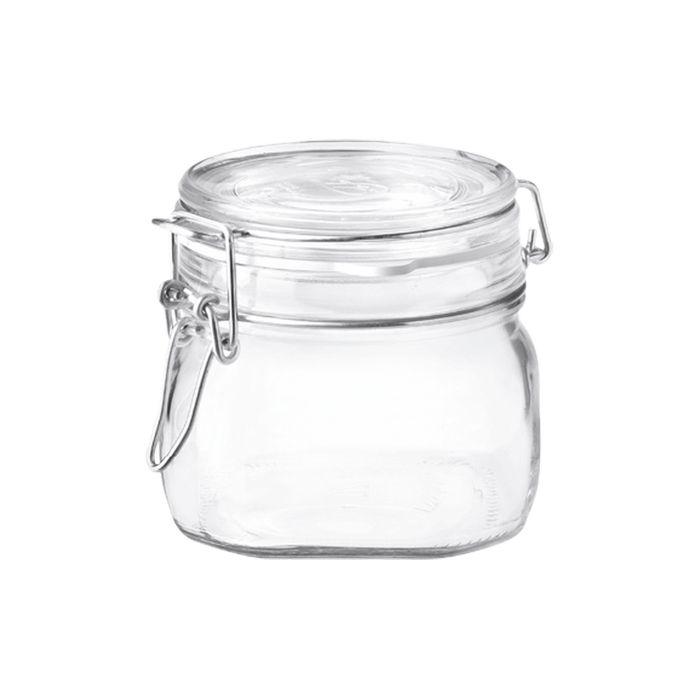 dóza 0,50l FIDO-Bormioli, čtverc.,  patentní sklo