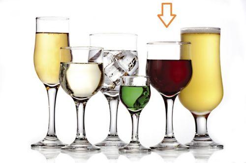 sklen. 240ml, 6ks, NEVAKAR v.16,5cm - č.víno