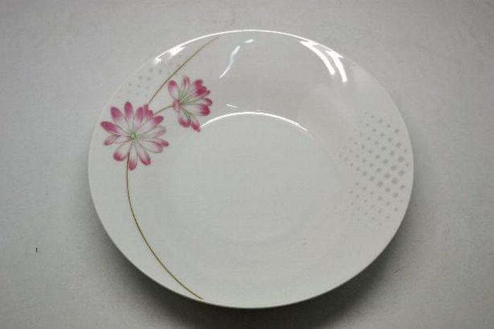 talíř d23cm hlub., BELLA kytka, porcelán