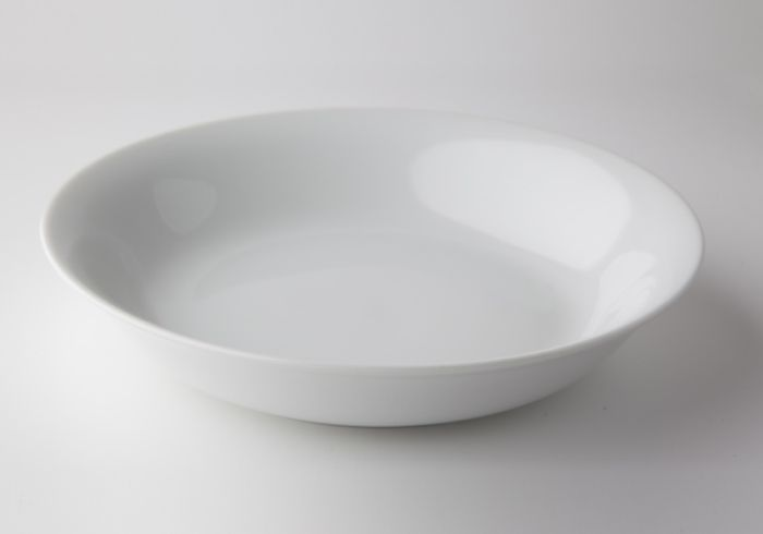 talíř d19cm hluboký, KUBA dětský, bílý porcelán 25