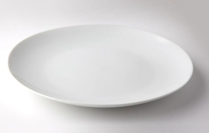 talíř d21cm mělký, KUBA dětský, bílý porcelán 25,3