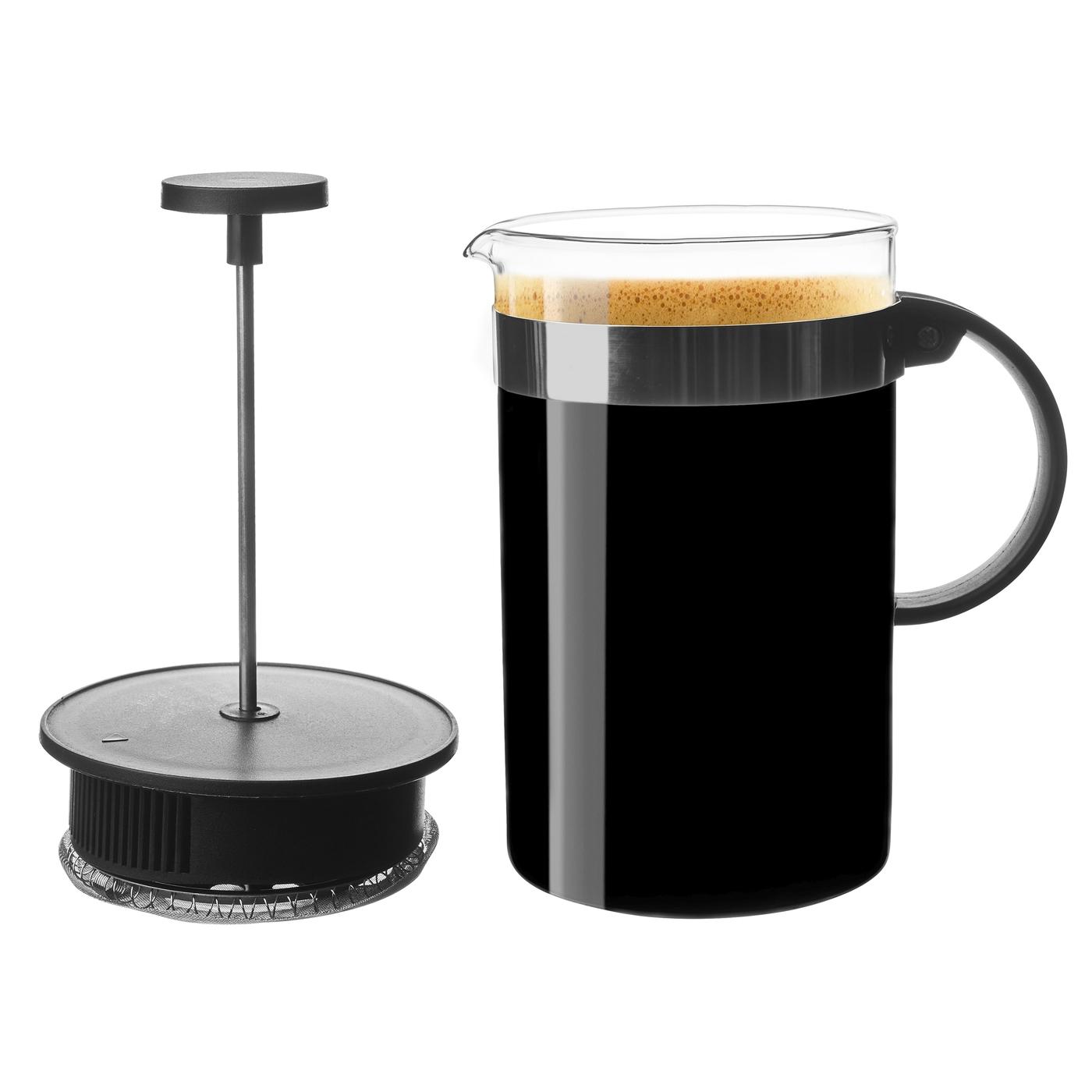konvice 0,80l KAMELIA, COFFEE MAKER, sklo+plast