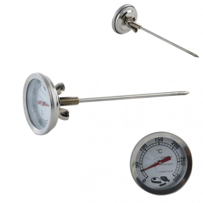 teploměr   d 5,0x16cm do udírny 0°C-300°C, tyčka