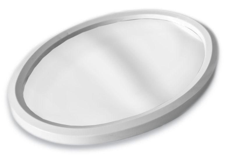 zrcadlo 50x39cm ovál plast.rám
