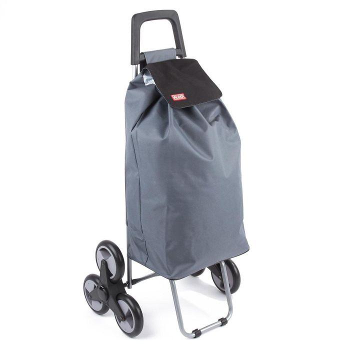 taška s kol. 50l, MADRID ALDO (25kg), šedá/fial.,s