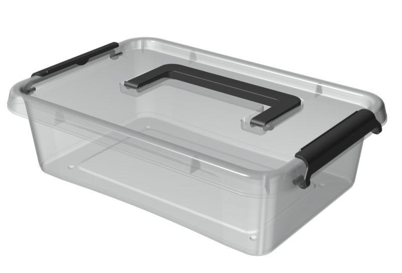 box  3,1l 29x20x8cm,rukojeť,transp.plast