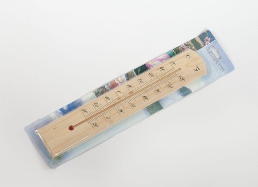 teploměr 40cm univ., -30°C+50°C, dřevo