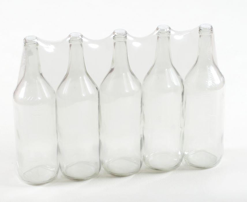 láhev 1,0l LIEH-5ks,(SPIRIT), šroubení, sklo