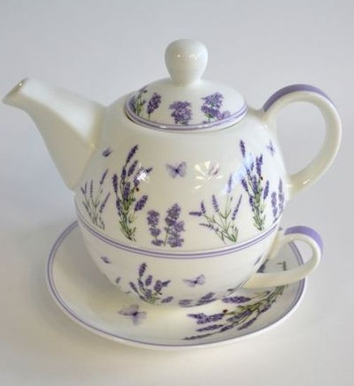 čajník 360ml+šapo 250ml, LEVANDULE, keramika