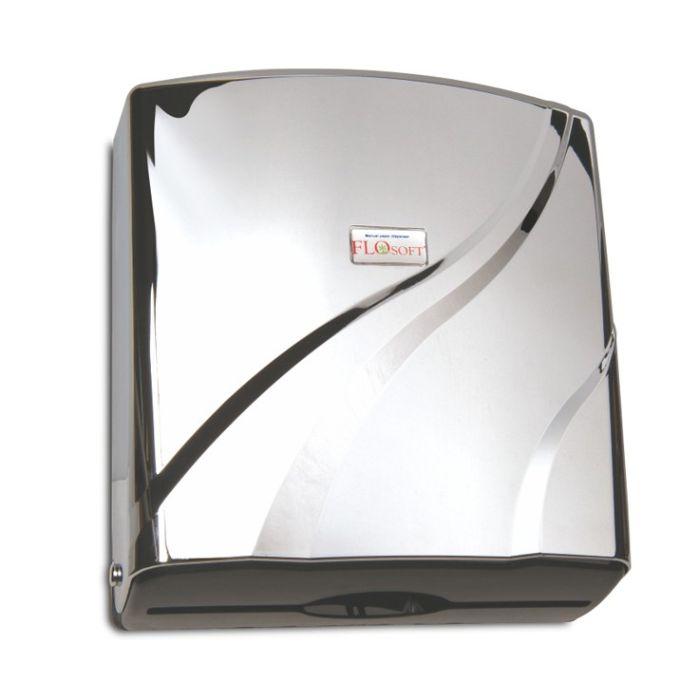 zásobník skl.pap.ruč.CHROM 27x27x8,5cm