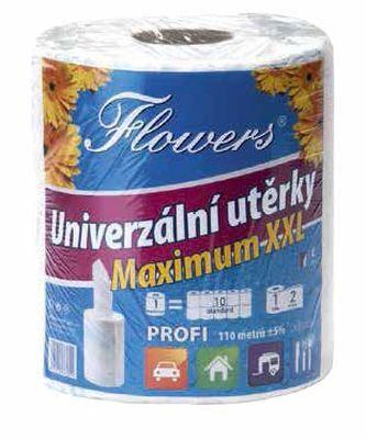 utěrky kuch.2vr.,110m, Flowers MAXIMUM XXL PROFI