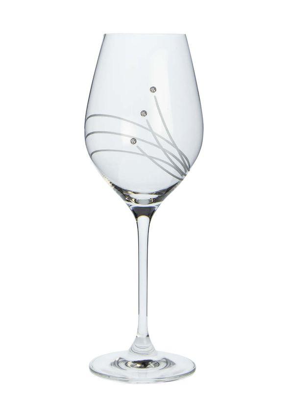 sklen. 360ml, 2ks, 30538, d8x22,5cm, Swarovski-vín