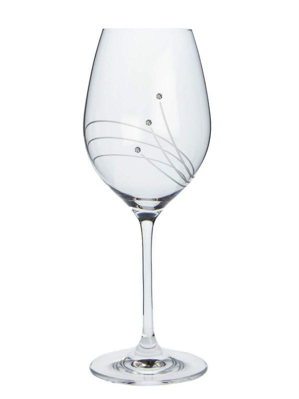 sklen. 470ml, 2ks, 30538, d9,3x24cm, Swarovski-vín