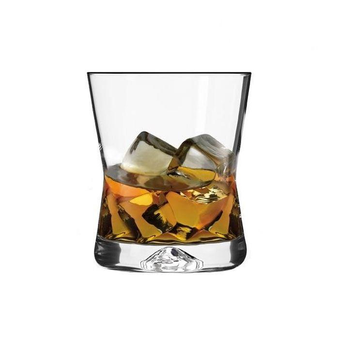 sklen. 290ml, 6ks, CASUAL/X-LINE, whisky, sil.stop