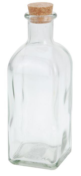 láhev 0,50l, hran.+kork.zátka, ocet/olej, sklo