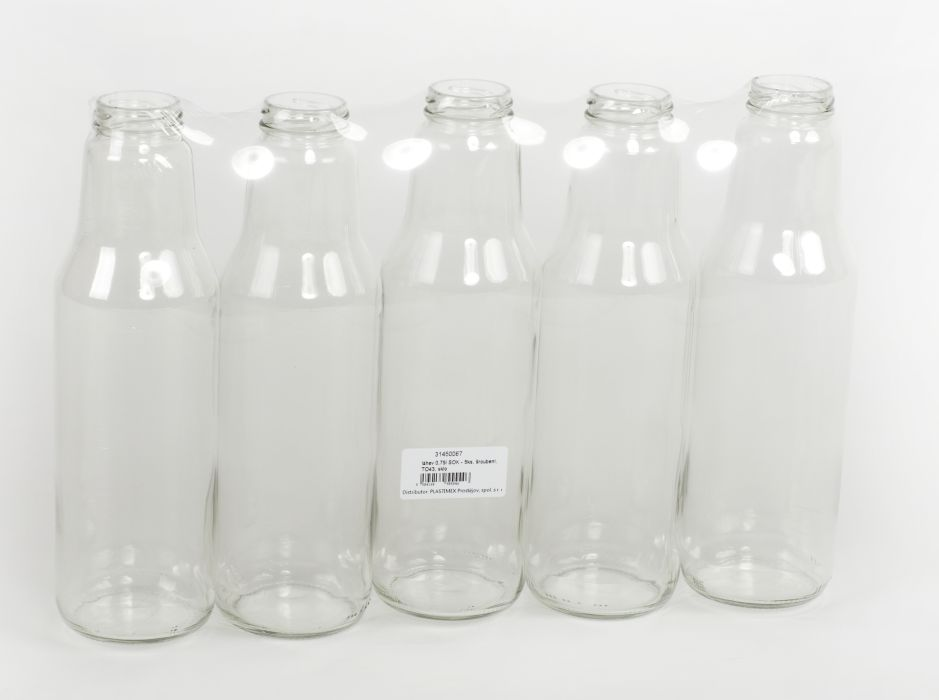 láhev 0,75l SOK - 5ks, šroubení, TO43, sklo