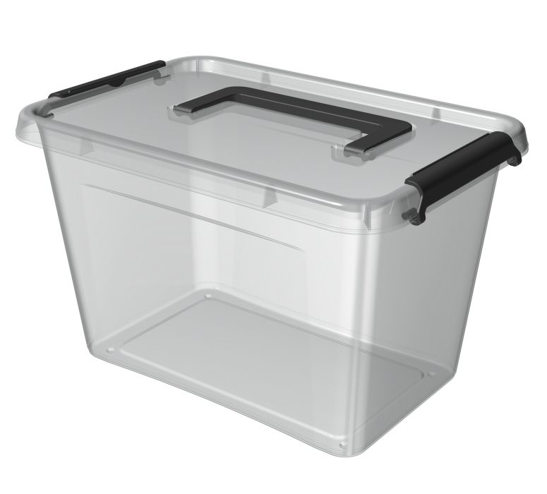 box  6,5 l 29x20x18cm,rukojeť,transp.plast