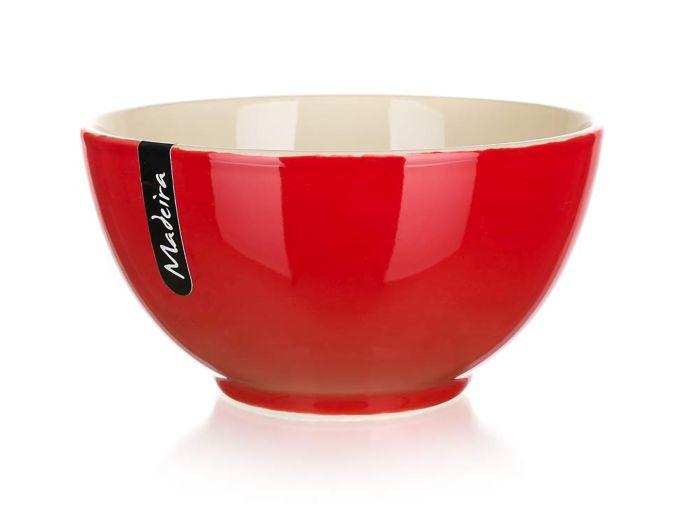 miska d14,5cm MADEIRA červená/natural, keram.
