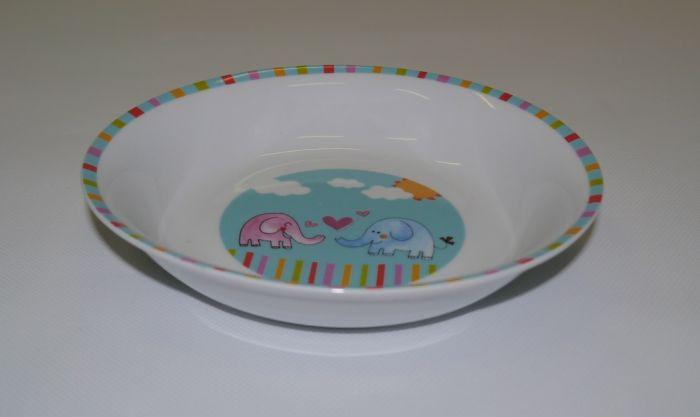 talíř d19cm hluboký SLON, dětský, porcelán
