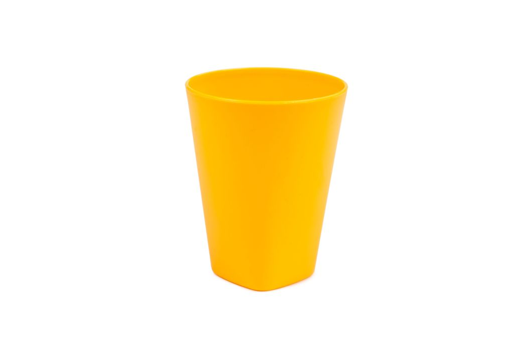 kelímek 0,33l FUNNY žlutý 8x10cm, plast