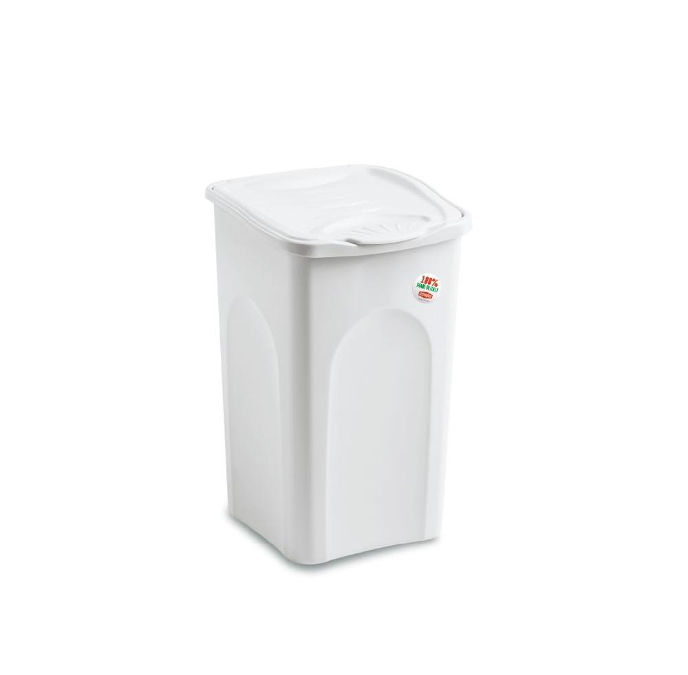 koš 25l na použ.prádlo bílý plný, 40x28x35cm