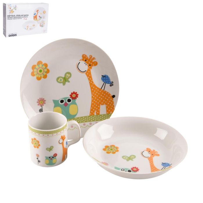 soupr. 3díl. ŽIRAFA, děts.jídel. porcelán