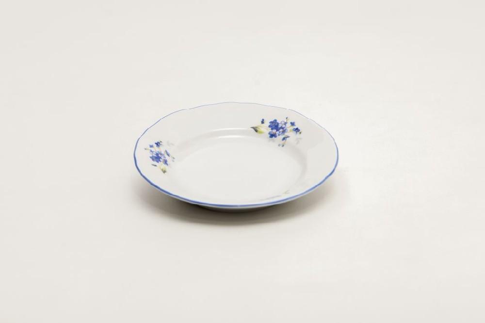 talíř d13 dezert POMNĚNKY, prapor., čes.porcelán
