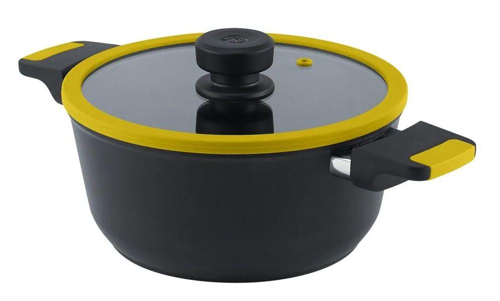 hrnec+PO d24 VEGA žlutý, v.11cm, 3,8l, indukce
