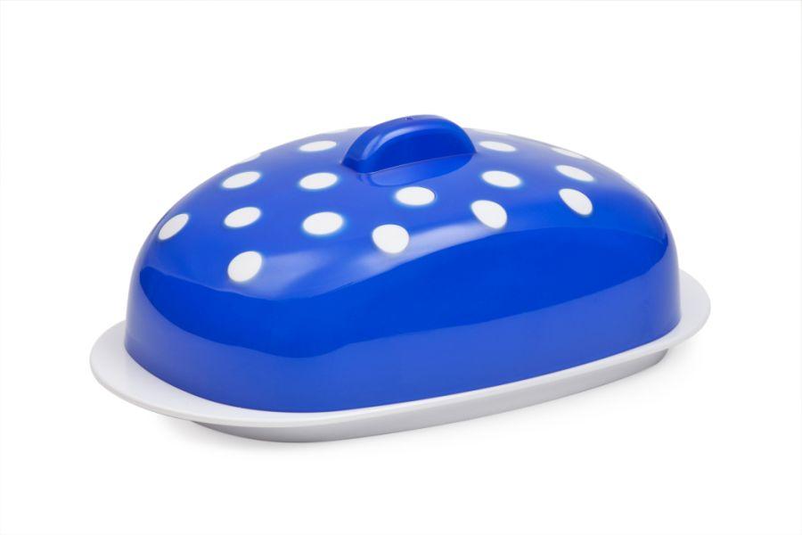 máslenka MARUSYA modrá 19x10,8x7,1cm, plast