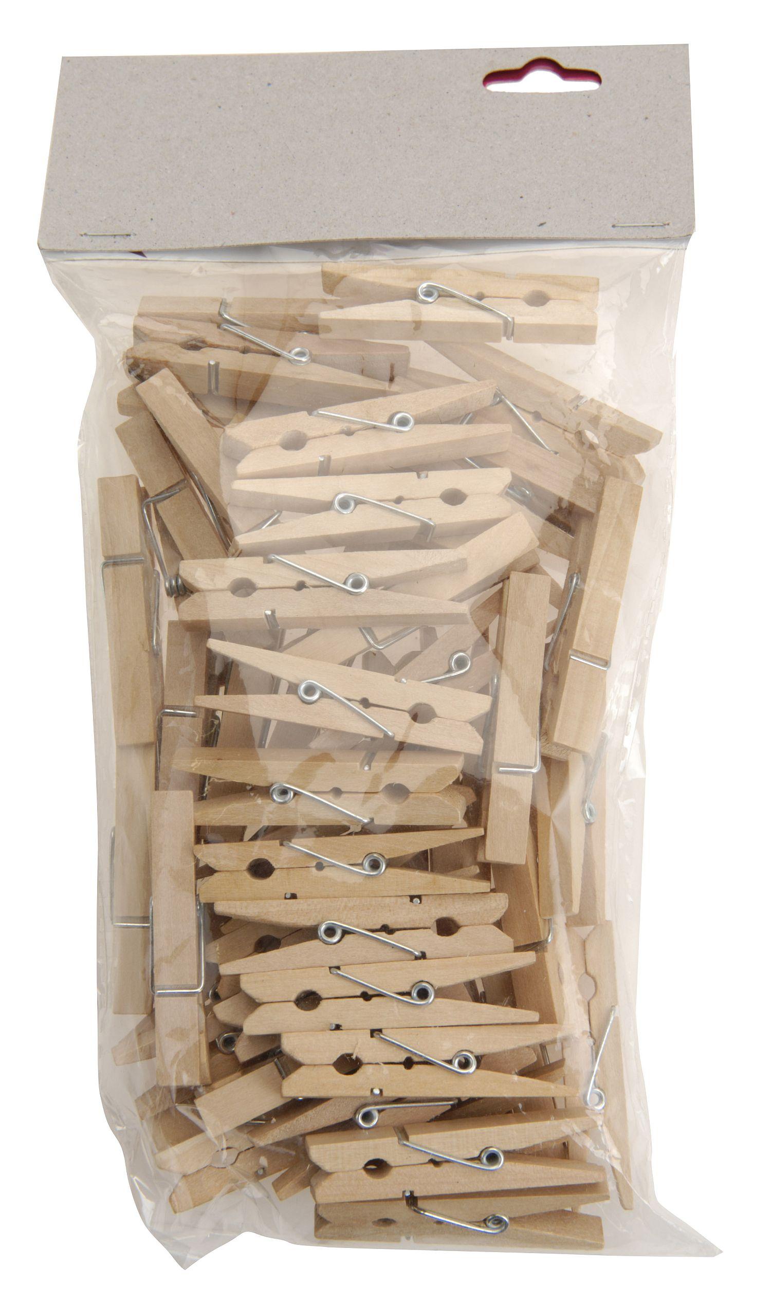 kolíčky 50ks MINI, 4,7x1,1x0,6cm, dřevěné