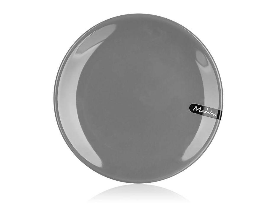 talíř d20cm dezertní, MADEIRA šedý, keram.