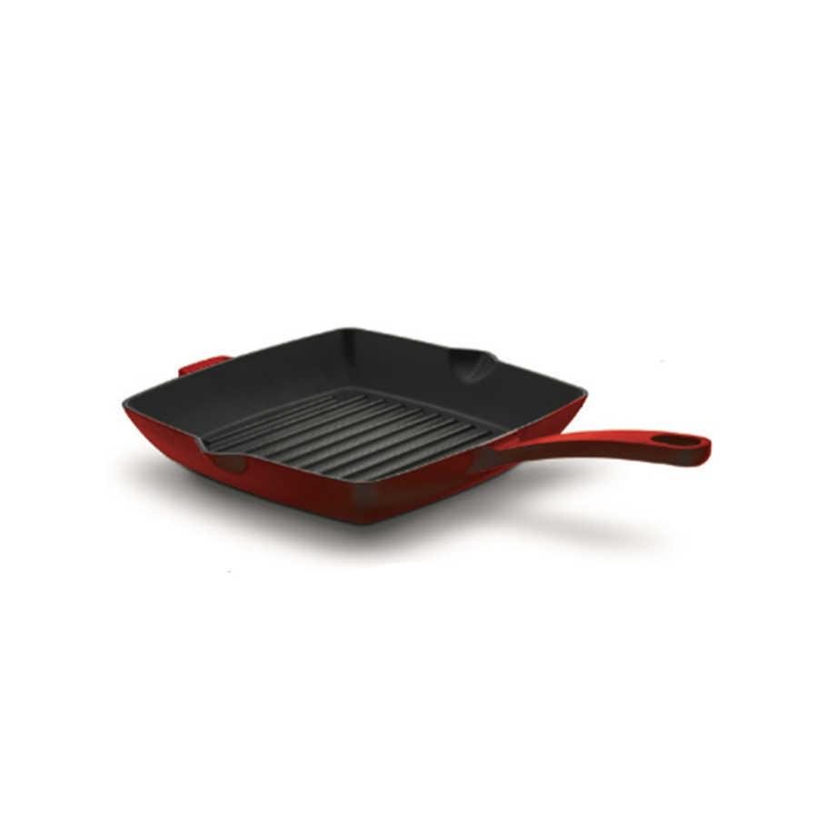 pánev 30x30cm, CASTA, červená, grilovací