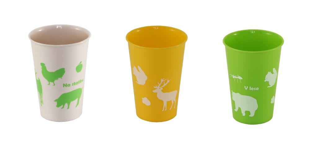 kelímek 0,3l - Zvířátka, plast