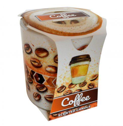svíčka  1ks COFFEE ve skle, 1315, 90g