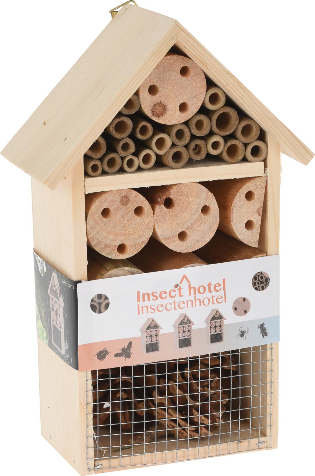 domeček hmyzí HOTEL v.25cm, dřevo