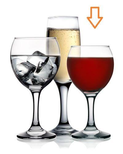 sklen. 210ml MISKET, 6ks, v14,7cm, (FAN) - č.víno