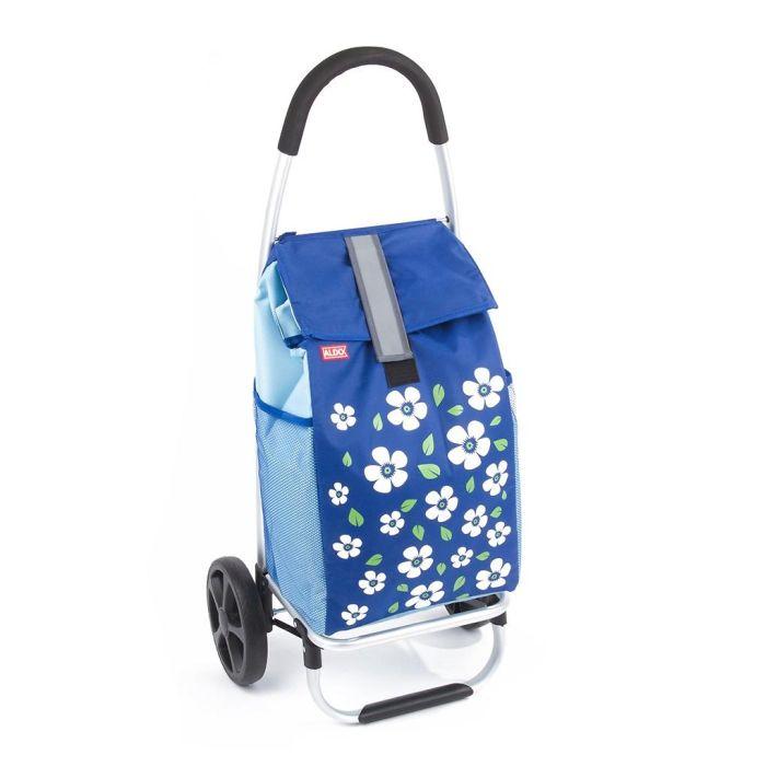 taška s kol. 60l, PARIS ALDO (30kg), šedá/modrá, v