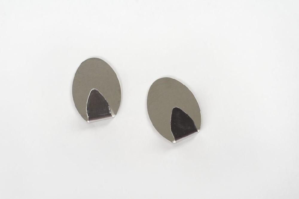 háček-2ks-ovál 3,5x5cm velký, NR,samolepící
